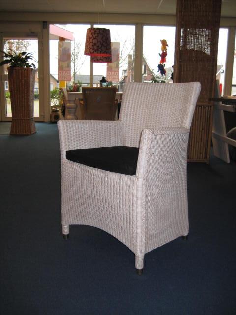 Lloyd loom eetkamerstoel stoel met armleuning lloyd for Loom stoelen