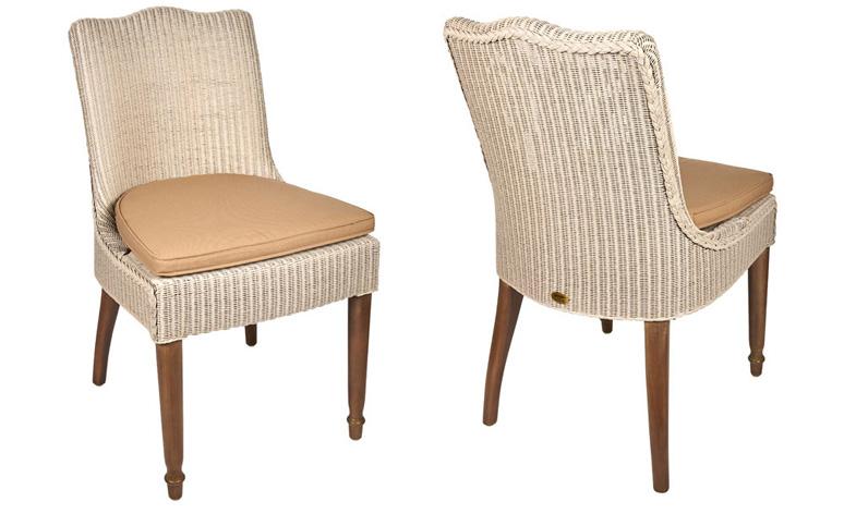 Witte Eetkamer Stoel : Lloyd loom stoel zonder armleuning exclusief en original lloyd
